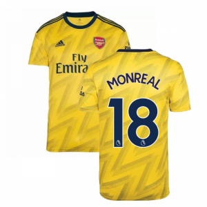 2019-2020 Arsenal Adidas Away Football Shirt (MONREAL 18)