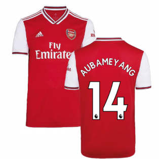 2019-2020 Arsenal Adidas Home Football Shirt (Kids) (AUBAMEYANG 14)
