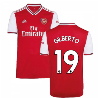 2019-2020 Arsenal Adidas Home Football Shirt (Kids) (GILBERTO 19)
