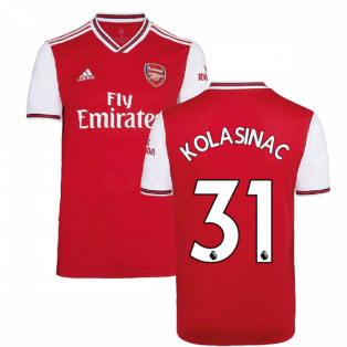 2019-2020 Arsenal Adidas Home Football Shirt (Kids) (KOLASINAC 31)