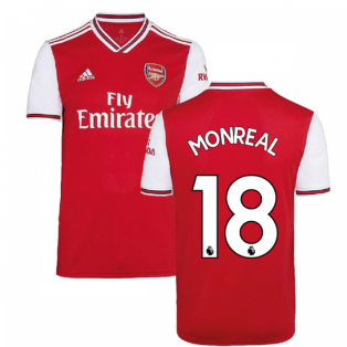 2019-2020 Arsenal Adidas Home Football Shirt (Kids) (MONREAL 18)