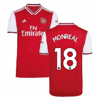 2019-2020 Arsenal Adidas Home Football Shirt (MONREAL 18)