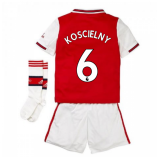 2019-2020 Arsenal Adidas Home Little Boys Mini Kit (KOSCIELNY 6)