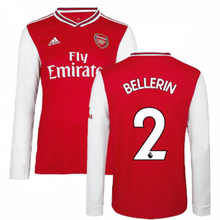 2019-2020 Arsenal Adidas Home Long Sleeve Shirt (BELLERIN 2)