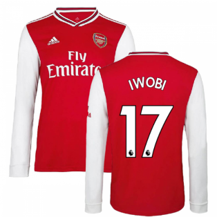 2019-2020 Arsenal Adidas Home Long Sleeve Shirt (Kids) (IWOBI 17)