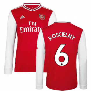 2019-2020 Arsenal Adidas Home Long Sleeve Shirt (Kids) (KOSCIELNY 6)