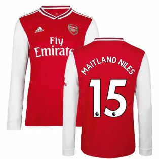 2019-2020 Arsenal Adidas Home Long Sleeve Shirt (Kids) (MAITLAND NILES 15)
