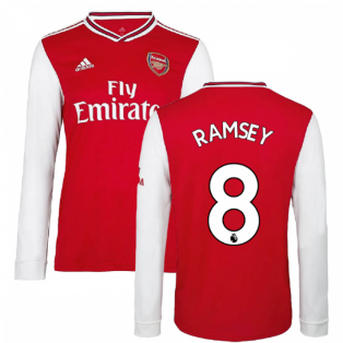 2019-2020 Arsenal Adidas Home Long Sleeve Shirt (Kids) (RAMSEY 8)