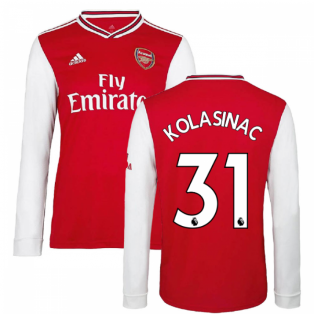2019-2020 Arsenal Adidas Home Long Sleeve Shirt (KOLASINAC 31)