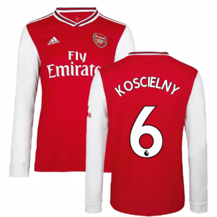 2019-2020 Arsenal Adidas Home Long Sleeve Shirt (KOSCIELNY 6)