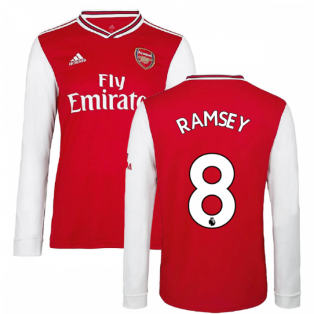 2019-2020 Arsenal Adidas Home Long Sleeve Shirt (RAMSEY 8)