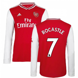 2019-2020 Arsenal Adidas Home Long Sleeve Shirt (ROCASTLE 7)