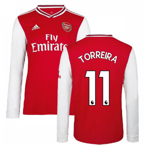 2019-2020 Arsenal Adidas Home Long Sleeve Shirt (TORREIRA 11)