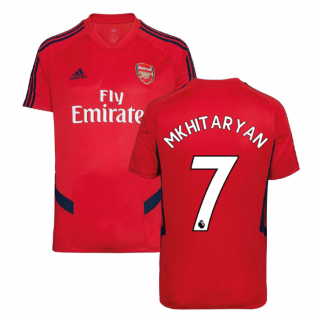 2019-2020 Arsenal Adidas Training Shirt (Red) (Mkhitaryan 7)