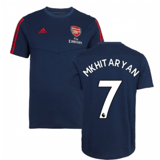 2019-2020 Arsenal Adidas Training Tee (Navy) (Mkhitaryan 7)
