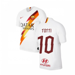 2019-2020 AS Roma Away Nike Football Shirt (Kids) (TOTTI 10)