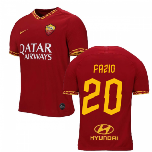 2019-2020 AS Roma Home Nike Football Shirt (Kids) (FAZIO 20)