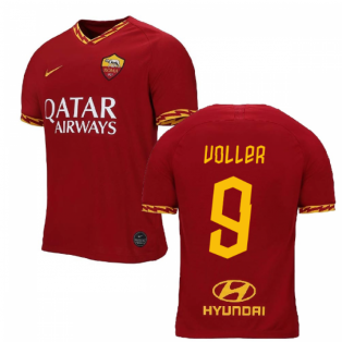 2019-2020 AS Roma Home Nike Football Shirt (Kids) (VOLLER 9)