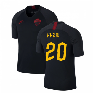 2019-2020 AS Roma Nike Training Shirt (Black) (FAZIO 20)