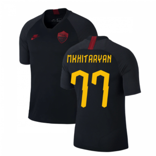 2019-2020 AS Roma Nike Training Shirt (Black) (Mkhitaryan 77)