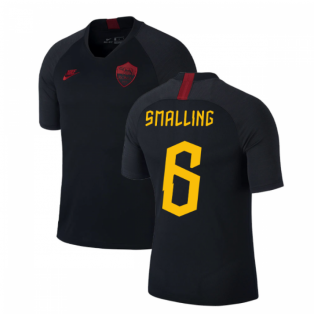2019-2020 AS Roma Nike Training Shirt (Black) (Smalling 6)