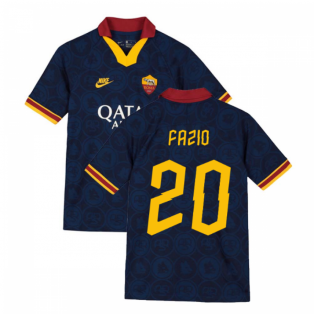 2019-2020 AS Roma Third Nike Football Shirt (Kids) (FAZIO 20)