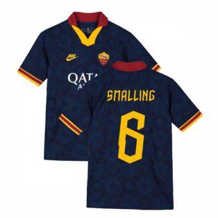 2019-2020 AS Roma Third Nike Football Shirt (Kids) (Smalling 6)