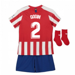 2019-2020 Atletico Madrid Home Nike Baby Kit (GODIN 2)