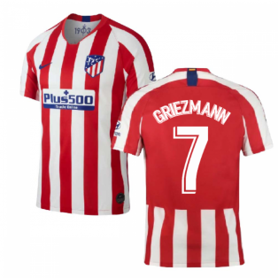 3f14e617d 2019-2020 Atletico Madrid Home Nike Shirt (Kids) (GRIEZMANN 7)