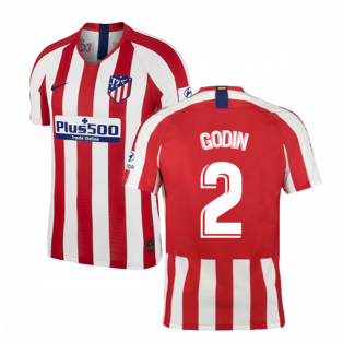 2019-2020 Atletico Madrid Vapor Match Home Shirt (GODIN 2)