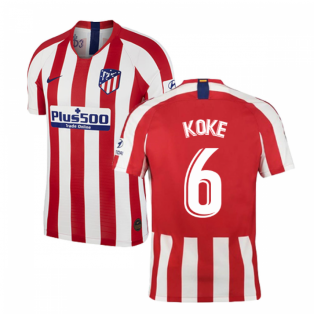 2019-2020 Atletico Madrid Vapor Match Home Shirt (KOKE 6)