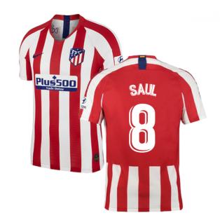 2019-2020 Atletico Madrid Vapor Match Home Shirt (SAUL 8)