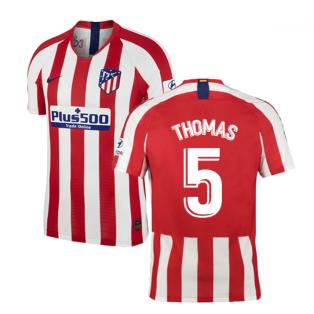 2019-2020 Atletico Madrid Vapor Match Home Shirt (THOMAS 5)