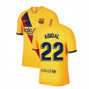 2019-2020 Barcelona Away Nike Football Shirt (ABIDAL 22)