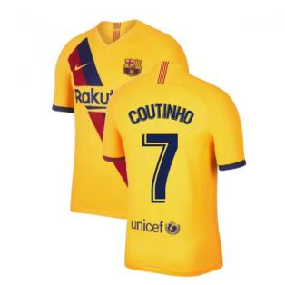 2019-2020 Barcelona Away Nike Football Shirt (COUTINHO 7)