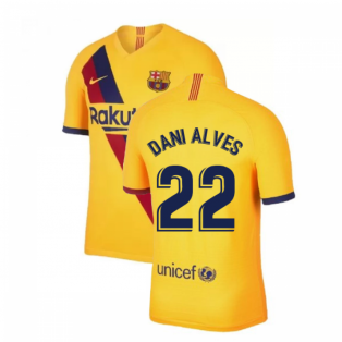 2019-2020 Barcelona Away Nike Football Shirt (DANI ALVES 22)