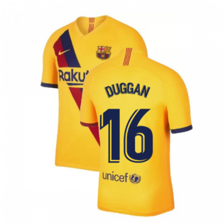 2019-2020 Barcelona Away Nike Football Shirt (Duggan 16)