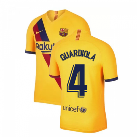 2019-2020 Barcelona Away Nike Football Shirt (GUARDIOLA 4)