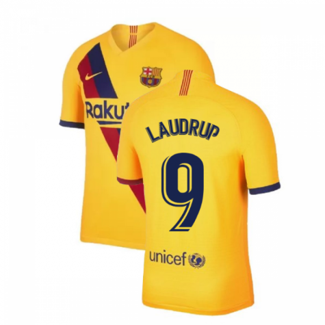 2019-2020 Barcelona Away Nike Football Shirt (LAUDRUP 9)