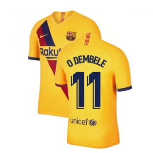 2019-2020 Barcelona Away Nike Football Shirt (O DEMBELE 11)