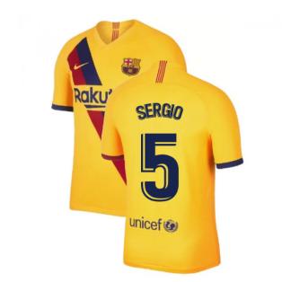 2019-2020 Barcelona Away Nike Football Shirt (SERGIO 5)