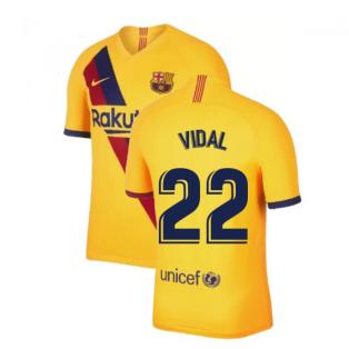 2019-2020 Barcelona Away Nike Football Shirt (VIDAL 22)