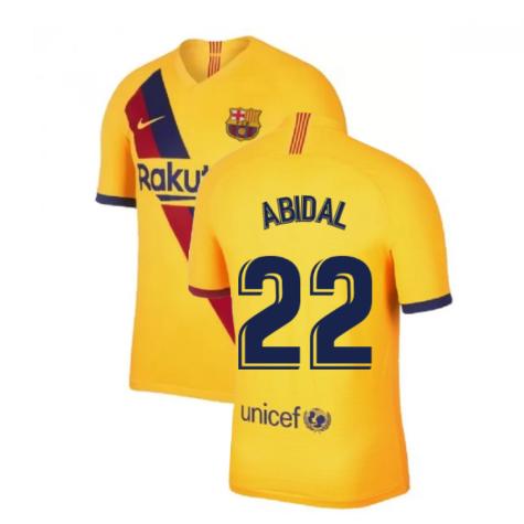 2019-2020 Barcelona Away Nike Shirt (Kids) (ABIDAL 22)