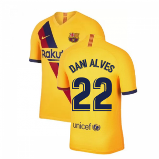 2019-2020 Barcelona Away Nike Shirt (Kids) (DANI ALVES 22)