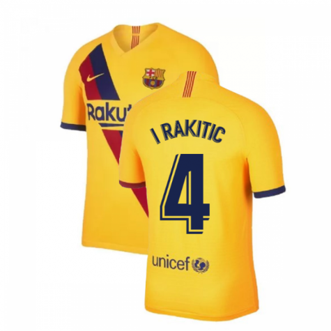 2019-2020 Barcelona Away Nike Shirt (Kids) (I RAKITIC 4)