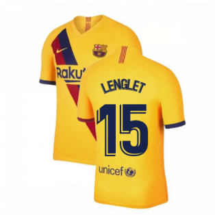 2019-2020 Barcelona Away Nike Shirt (Kids) (LENGLET 15)