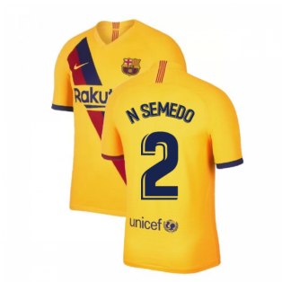2019-2020 Barcelona Away Nike Shirt (Kids) (N SEMEDO 2)