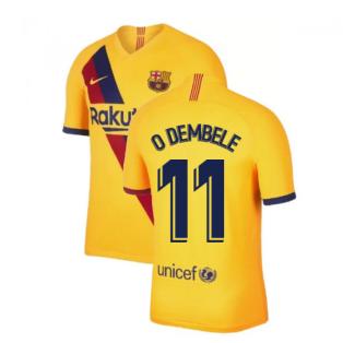 2019-2020 Barcelona Away Nike Shirt (Kids) (O DEMBELE 11)