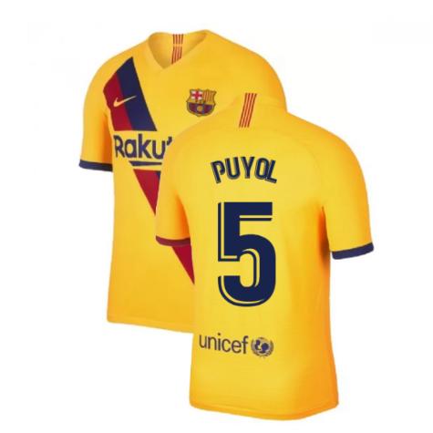 2019-2020 Barcelona Away Nike Shirt (Kids) (PUYOL 5)