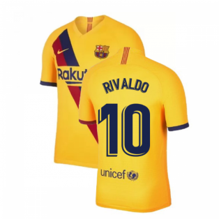 2019-2020 Barcelona Away Nike Shirt (Kids) (RIVALDO 10)